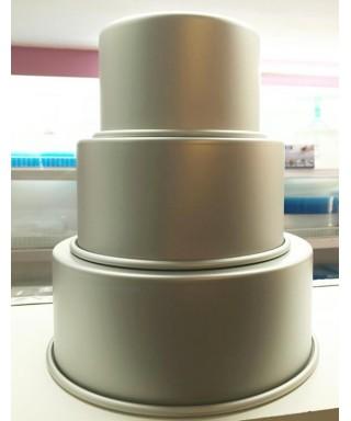 Pack de Moules aluminium Rond Ø 15, 20, 25 x 10cm PME