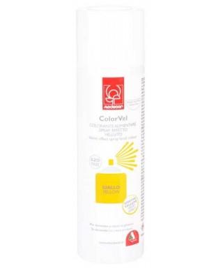 Bombe spray velour jaune 250 ml Modécor