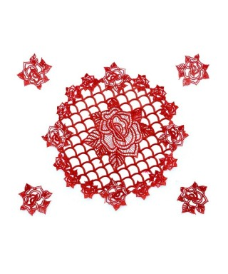 Tapis dentelle Ring of Roses Cake lace