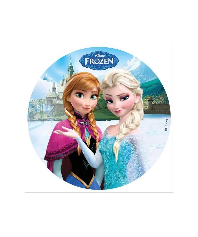Disque azyme la reine des neiges elsa et anna disney - Anna elsa reine des neiges ...
