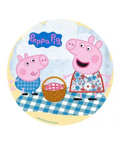Disque en azyme au picnic de peppa pig diam tre 20 cm 100 - Peppa cochon noel ...