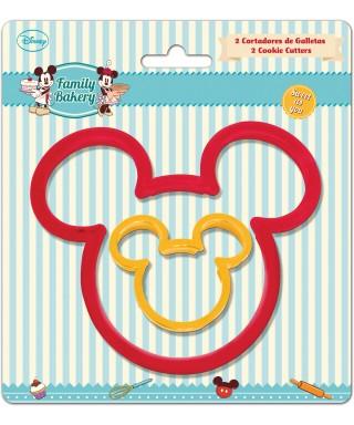Emporte-pièce tête de Mickey set/2 Disney