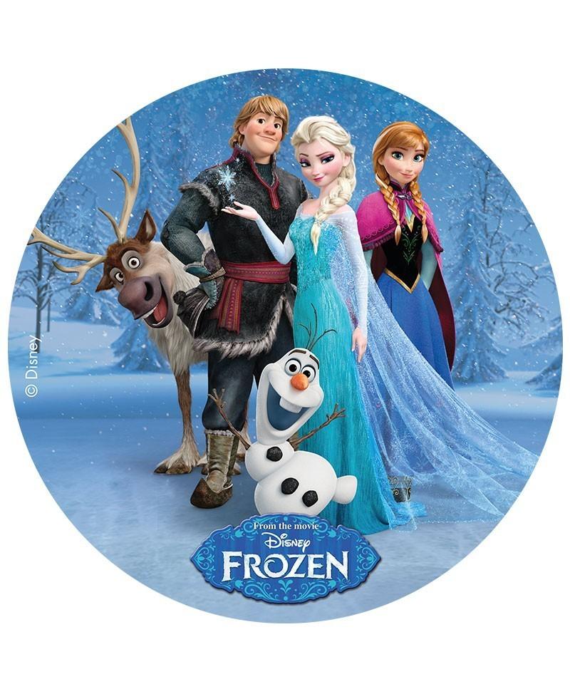 Disque azyme la reine des neiges elsa olaf anna - Olafe la reine des neiges ...