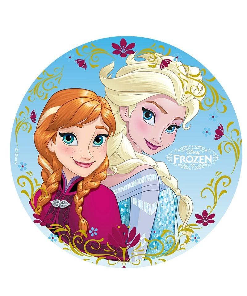 Disque azyme anna et elsa la reine des neiges disney - La reine des neige elsa ...