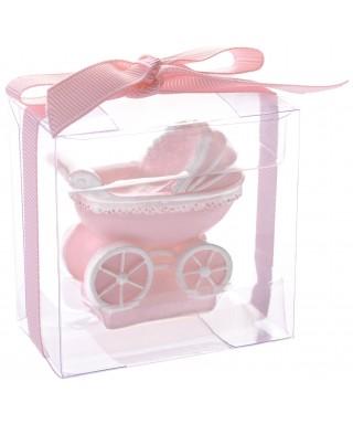 kit bougie de bapteme rose set / 3