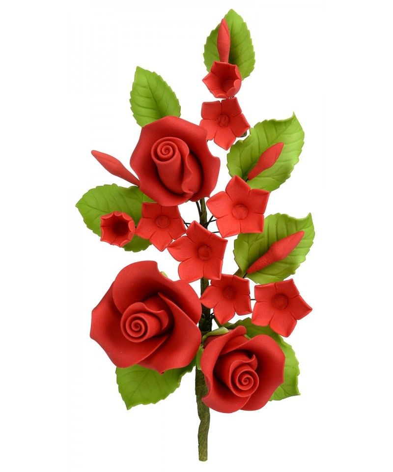 Bouquet de rose rouge en sucre for Bouquet rose rouge