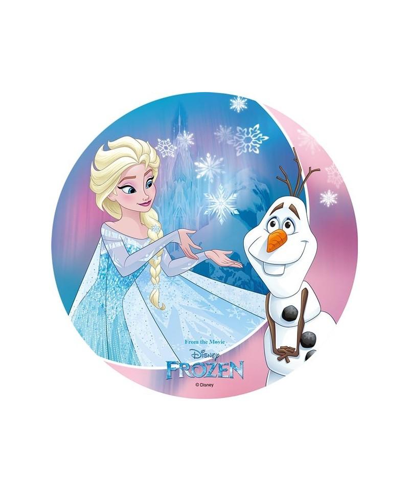 Disque azyme elsa et olaf la reine des neiges - Elsa la reine ...