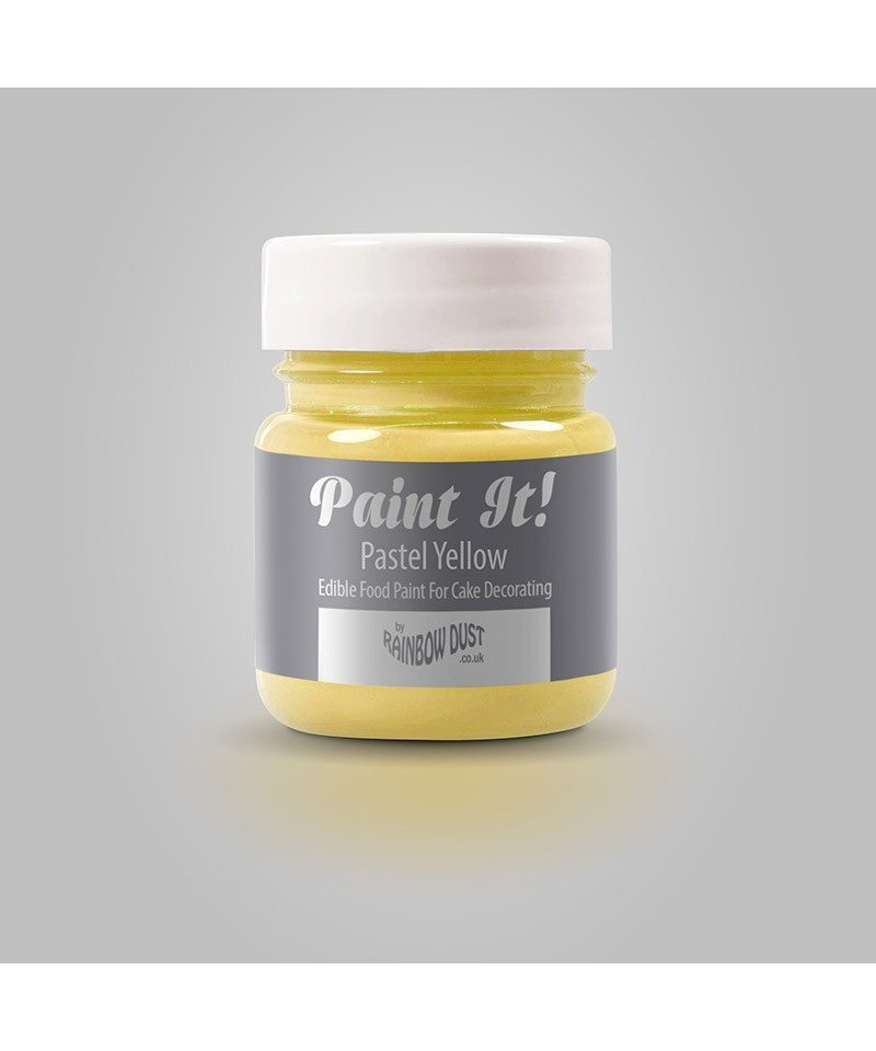Peinture jaune pastel 25ml rainbow dust - Jaune pastel peinture ...