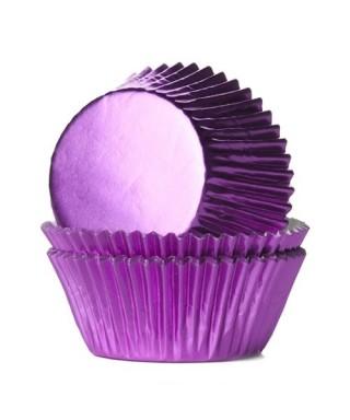 Caissette cupcake Parme métallisé pk/24 HoM