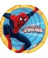 Disque azyme Spiderman fond bleu cadre jaune Marvel