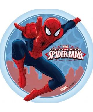 Disque azyme Spiderman fond toile d'araignées Marvel