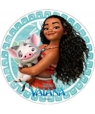 Disque azyme Vaiana et Pua Disney
