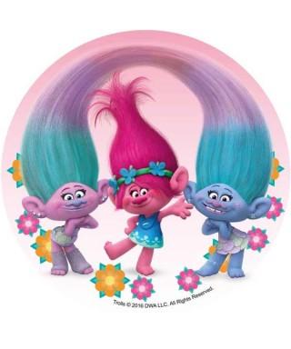 Disque azyme Poppy, Satin et Chenille Trolls