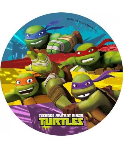 Disque p te sucre tortue ninja pour tortue ninja a 4 00 - Le nom des tortue ninja ...