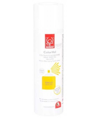 Bombe spray velour jaune 250 ml Modécor