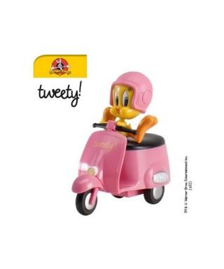 Figurine en PVC Titi en scooter Looney Tunes