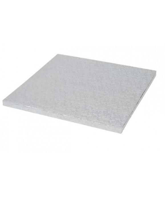 Plateau de présentation carré épais 20 x 20 cm