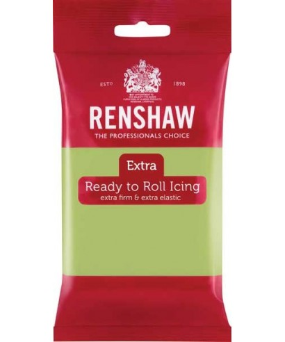 Pâte à sucre EXTRA Vert Pastel 250g Renshaw