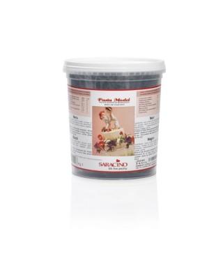 Pâte à sucre modelage Noir 1kg Saracino