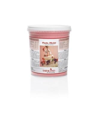 Pâte à sucre modelage Rose 1kg Saracino