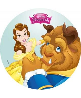 Disque azyme Belle et la Bête au bal Disney