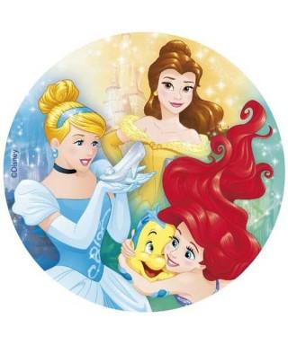 Disque azyme Ariel, Cendrillon et Belle Princesses Disney