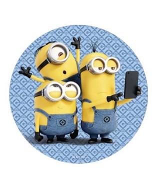 Disque azyme Minions en mode selfie