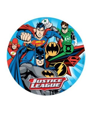 Disque azyme Batman, superman, flash, green lantern et Flash Comics