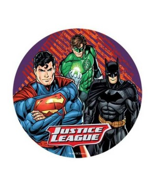 Disque azyme Batman, Superman et Green lantern Comics