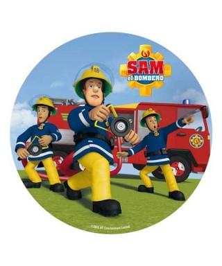 Disque azyme Sam le pompier en action