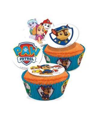 Mini disques à cupcake de Pat' Patrouille