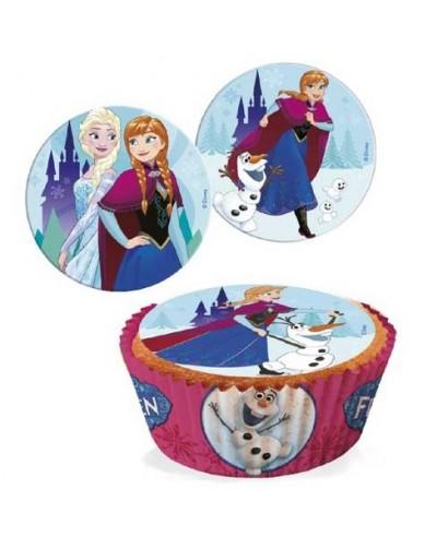 Mini disques à cupcake la reine des neiges Disney