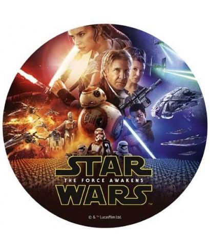 Disque pâte à sucre Star Wars Le Réveil de la Force