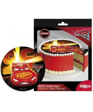Disque pâte à sucre Cars Flash McQueen Disney