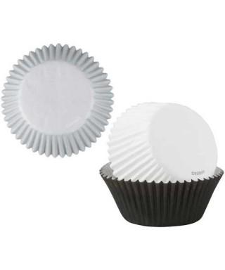 Caissettes à cupcakes Noir, Blanc, Argent pk/75 Wilton