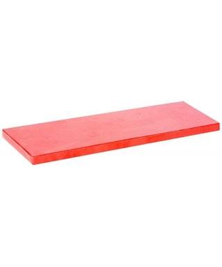 Plateau de présentation rouge pour bûche de Noël épais 32 x 12 cm