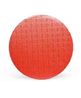 Plateau de présentation Rouge rond épais Ø 35 cm