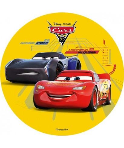 Disque azyme Cars 3 Flash Mcqueen et Jackson Storm Disney Pixar