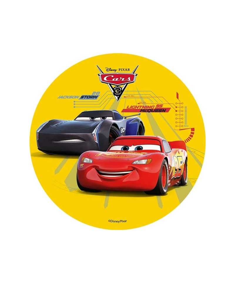 disque azyme cars 3 flash mcqueen et jackson storm disney pixar. Black Bedroom Furniture Sets. Home Design Ideas