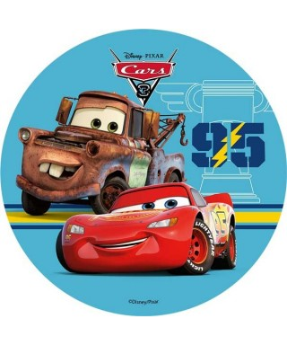 Disque azyme Cars 3 Flash Mcqueen et Martin Disney Pixar