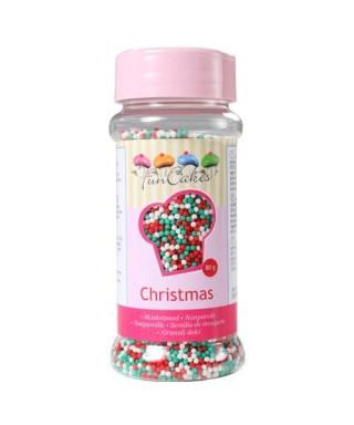 Nonpareils couleurs de Noël 80g FunCakes