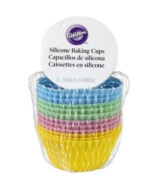 Moule silicone caissettes pour cupcakes pk/12 Wilton
