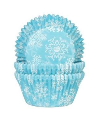 Caissette cupcake Floncon de neige pk/50 House of Marie
