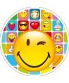 Disque pâte à sucre emoji clin d'oeil