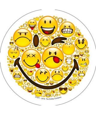 Disque pâte à sucre emoji