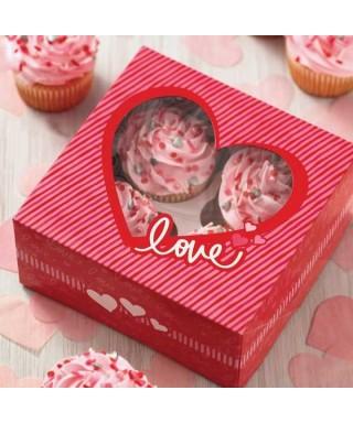 Boîte quatre Cupcakes St Valentin Wilton pk/2