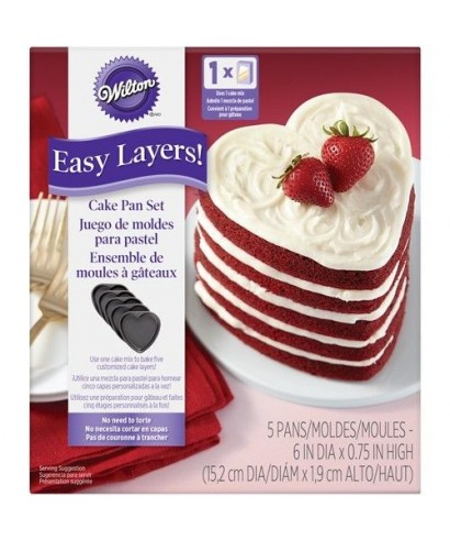 Moule Nude Cake Coeur 15cm Set/5 Wilton