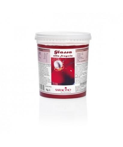 Gla age miroir fraise 1kg saracino for Glacage miroir fraise