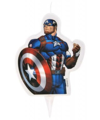 Bougie Captain America 2D Marvel