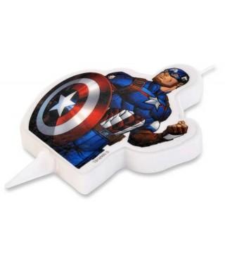 Bougie Captain America 2D Marvel